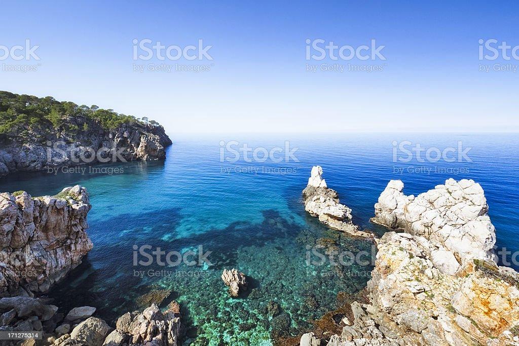 Mediterranean sea of Majorca royalty-free stock photo