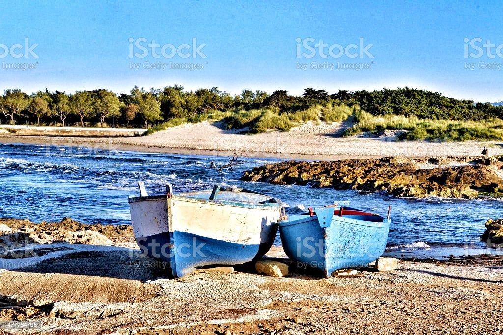 Mediterranean sea. Ostuni's sea stock photo