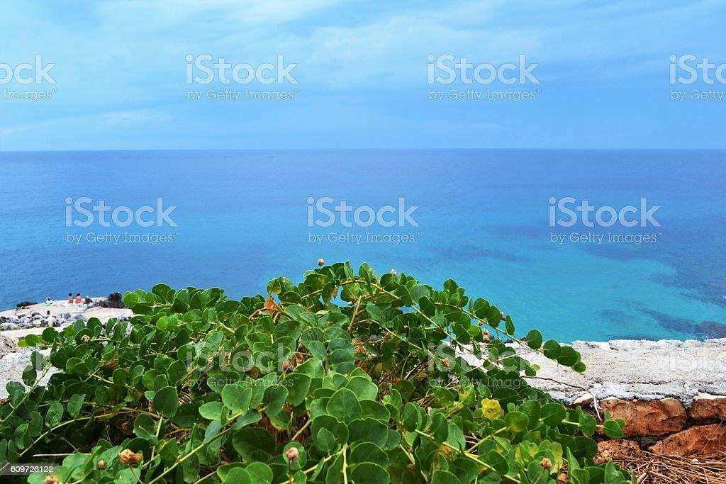 Mediterranean sea, Salento stock photo