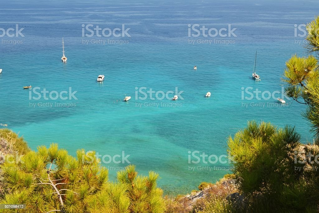 Mediterranean sea. Sicilia stock photo