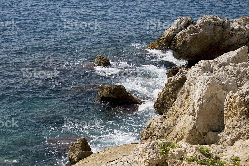 Mediterranean sea waves royalty-free stock photo