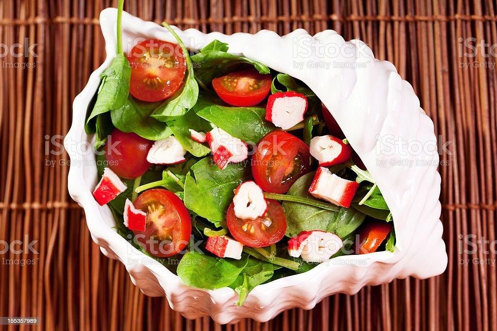 Mediterranean seafood salad stock photo