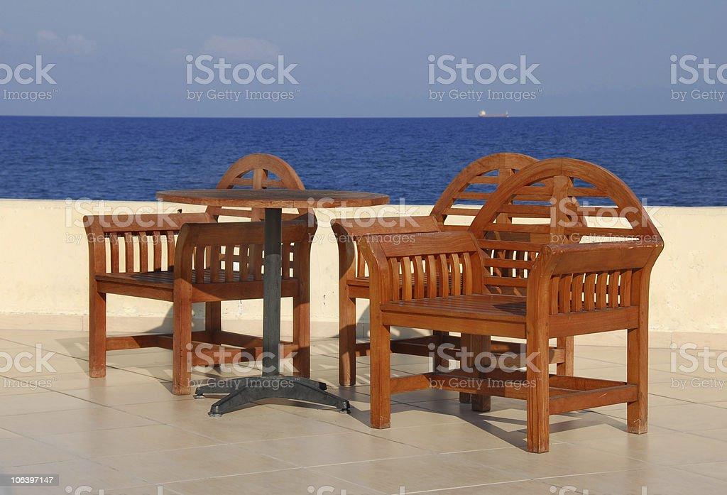 Mediterranean seaside royalty-free stock photo
