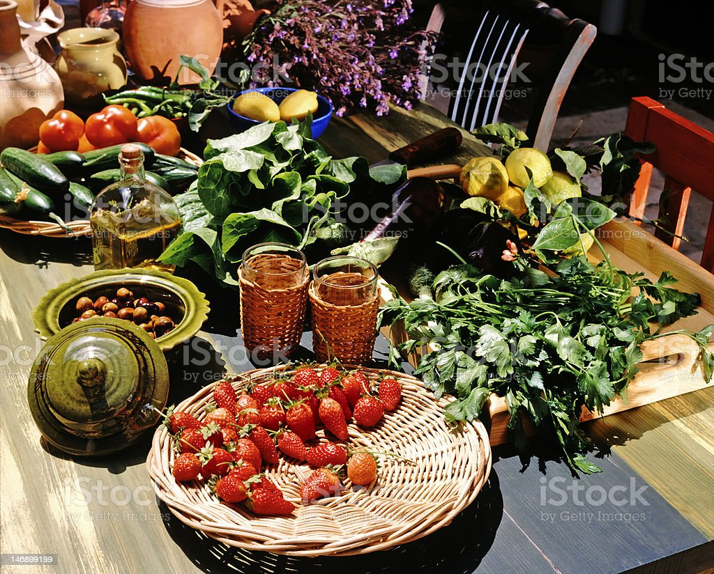 Mediterranean still life stock photo