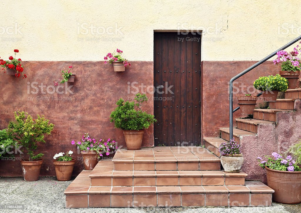 Mediterranean style house entrance royalty-free stock photo
