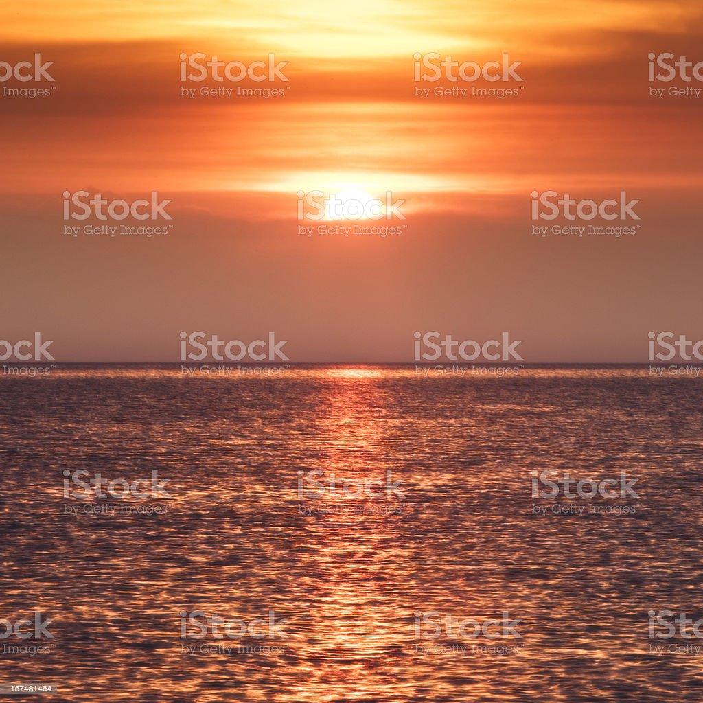 Mediterranean sunrise royalty-free stock photo