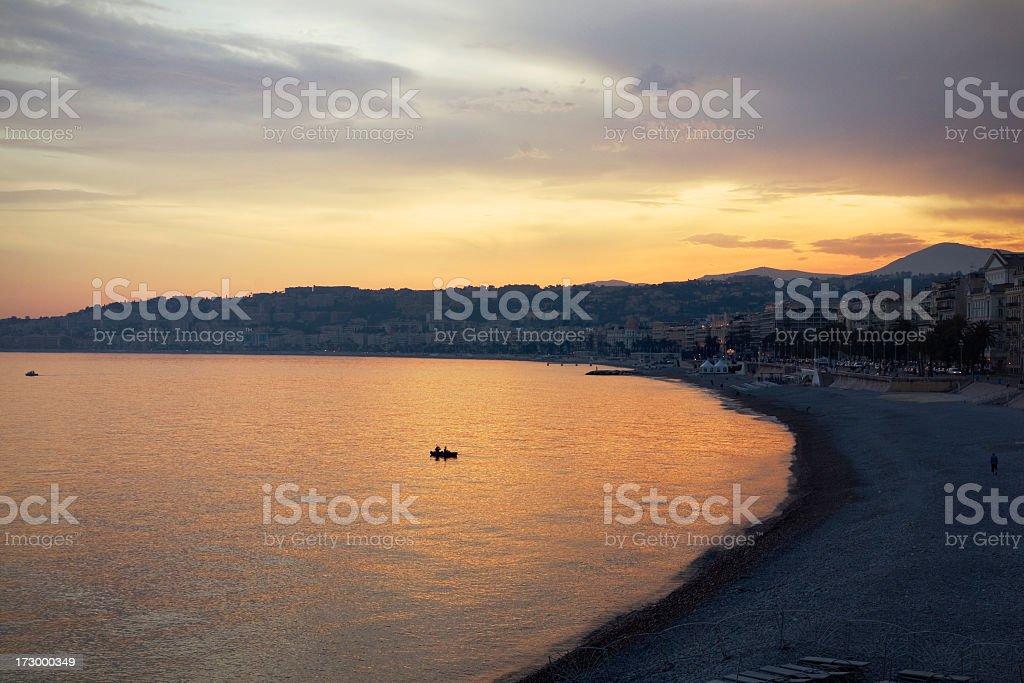 Mediterranean Sunset royalty-free stock photo