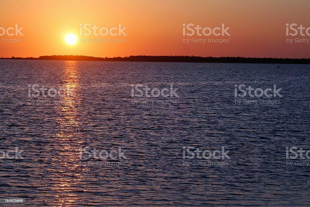 Mediterranean sunset - Sicily royalty-free stock photo