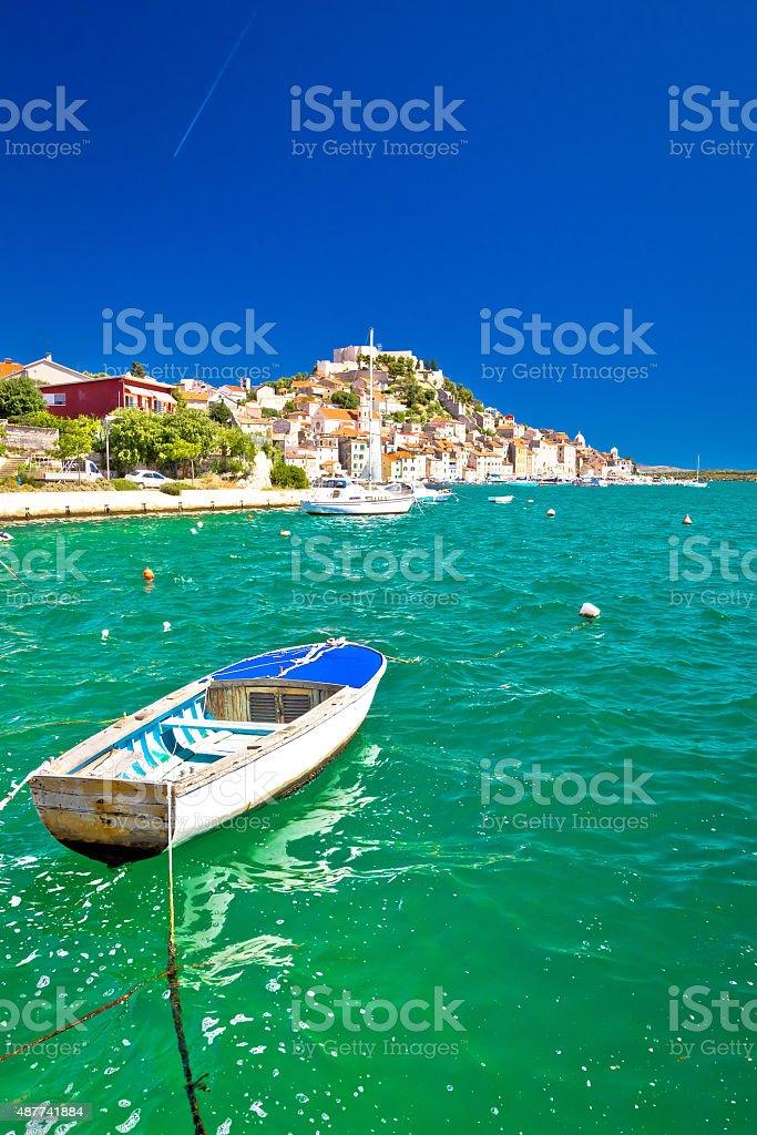 Mediterranean town of Sibenik view stock photo