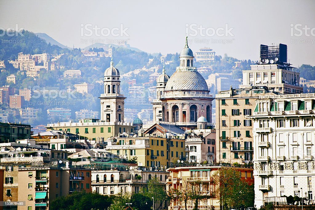 mediterranean town stock photo