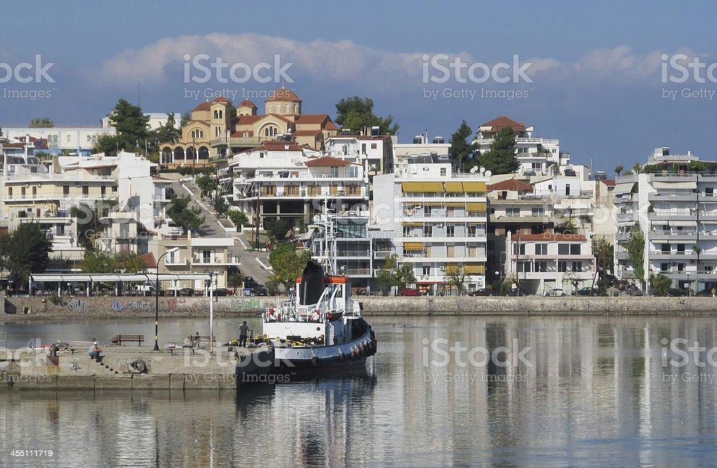 Mediterranean Town waterfront stock photo