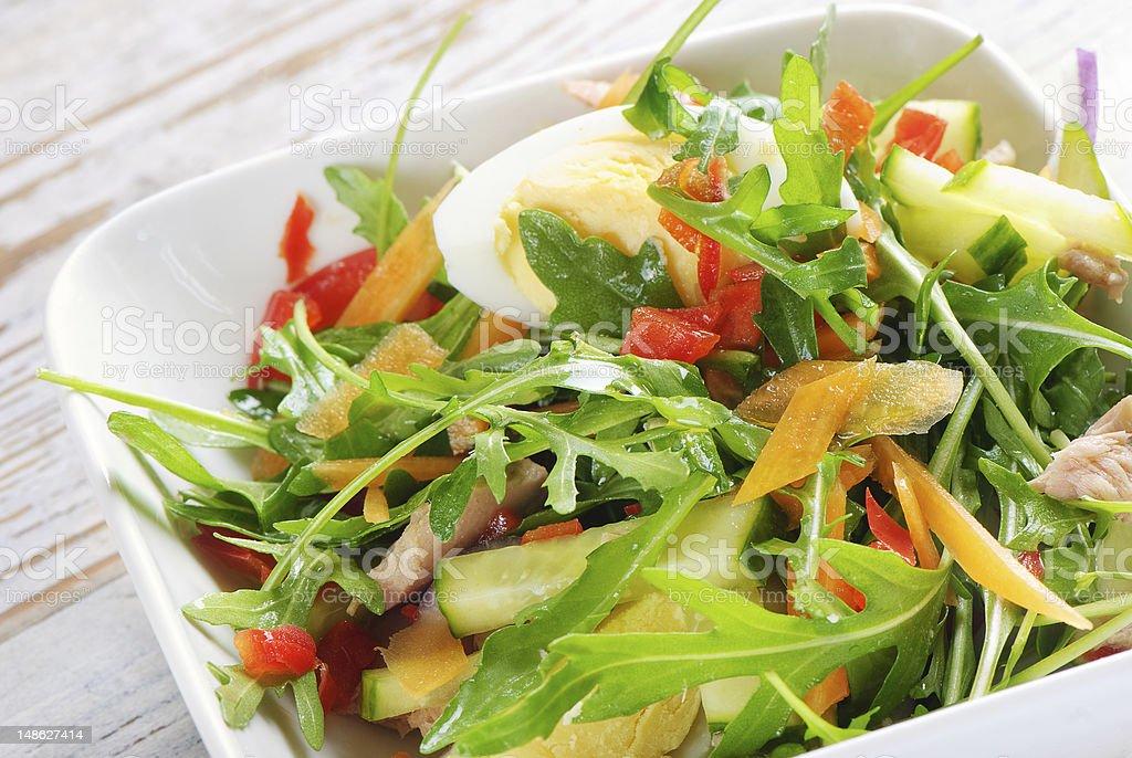 Mediterranean tuna fish salad royalty-free stock photo