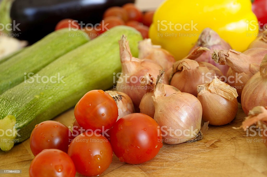 Mediterranean vegetables royalty-free stock photo