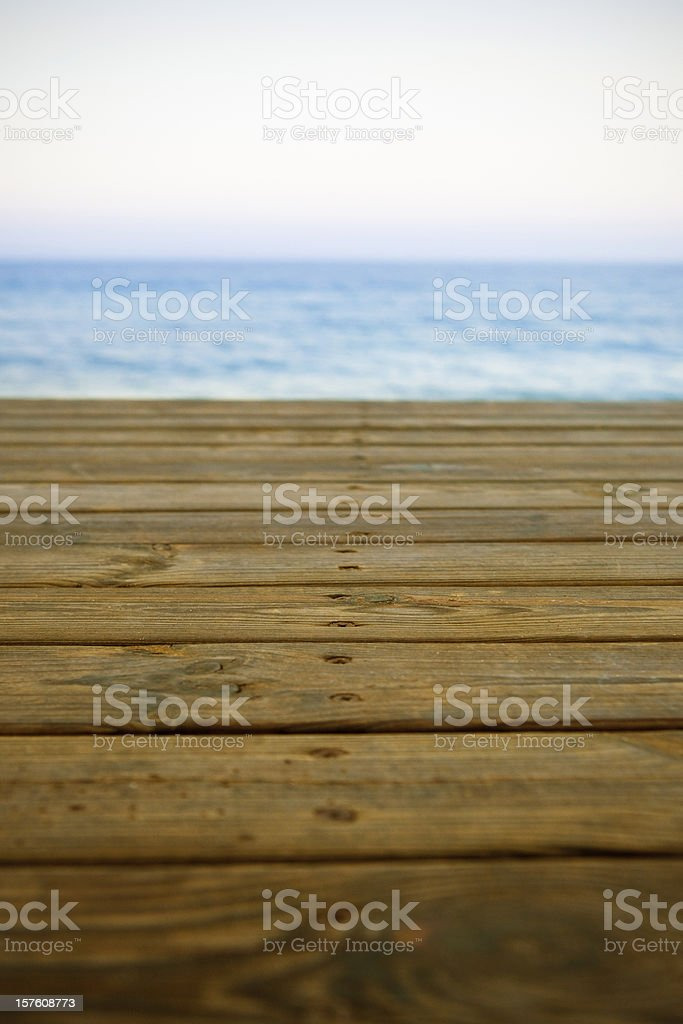 Mediterranean view in the pier royalty-free stock photo