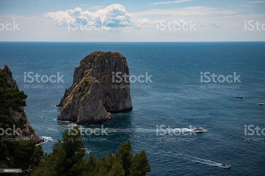 mediterranean view of Italy stock photo