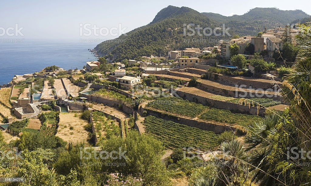 Mediterranean view. royalty-free stock photo