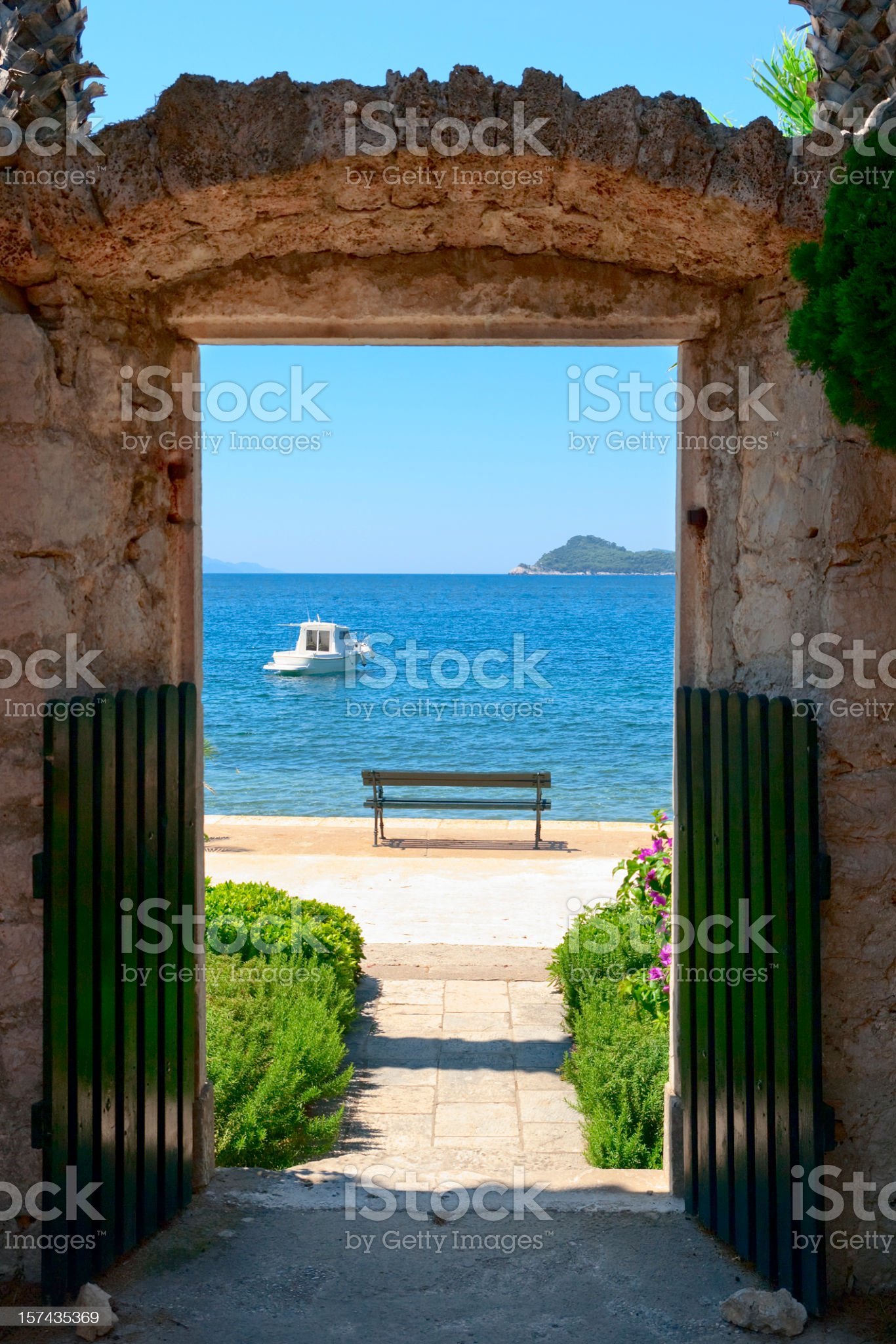 Mediterranean view royalty-free stock photo