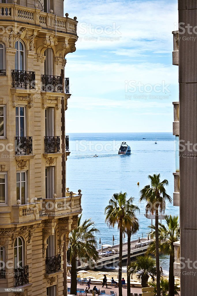 mediterranean view stock photo