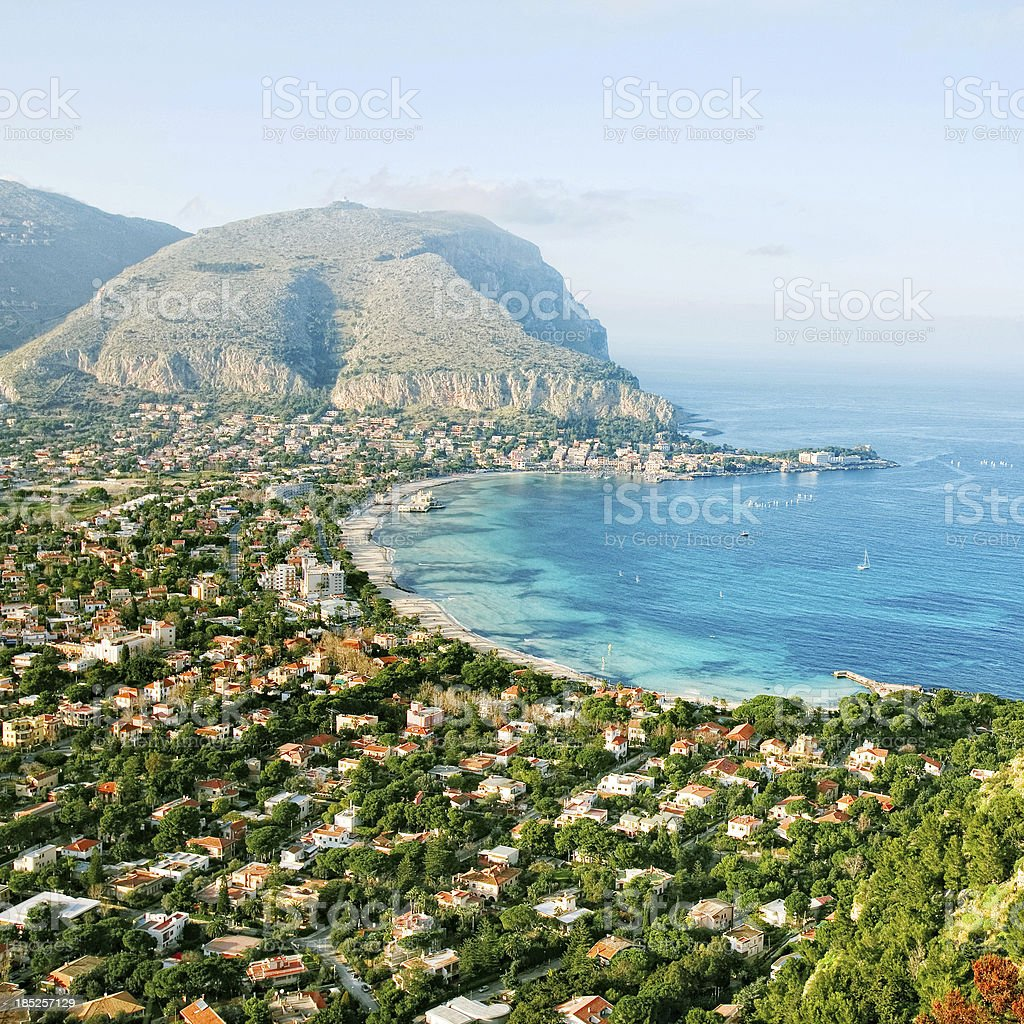 Mediterranean view. stock photo