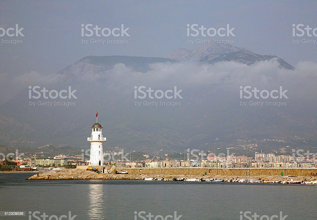 Mediterranean view stock photo