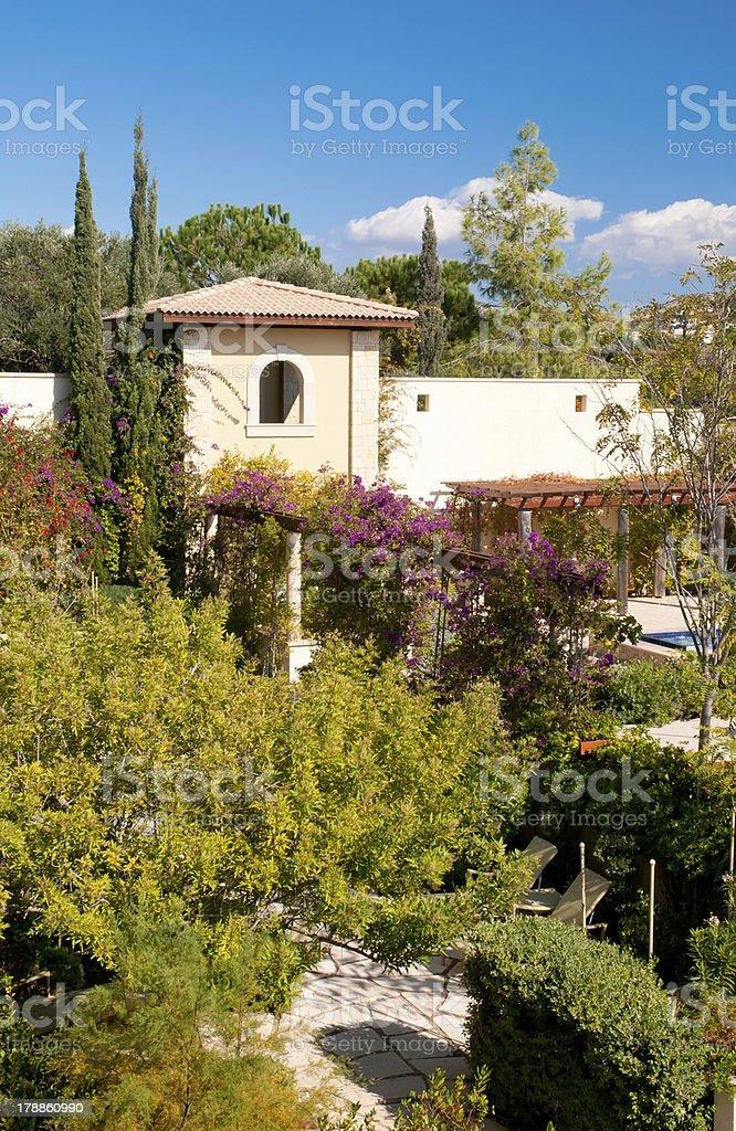 Mediterranean villa royalty-free stock photo