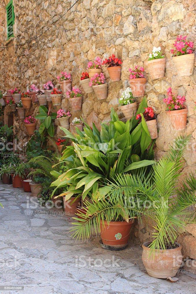 Mediterranean village of Valldemossa stock photo