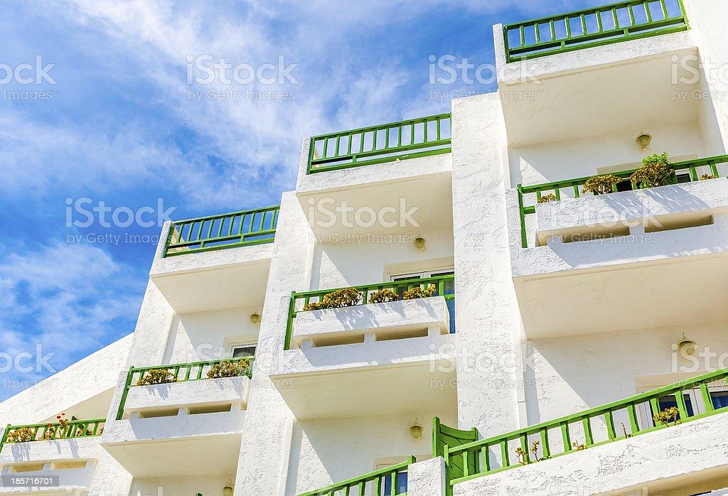 mediterranean white balconies royalty-free stock photo