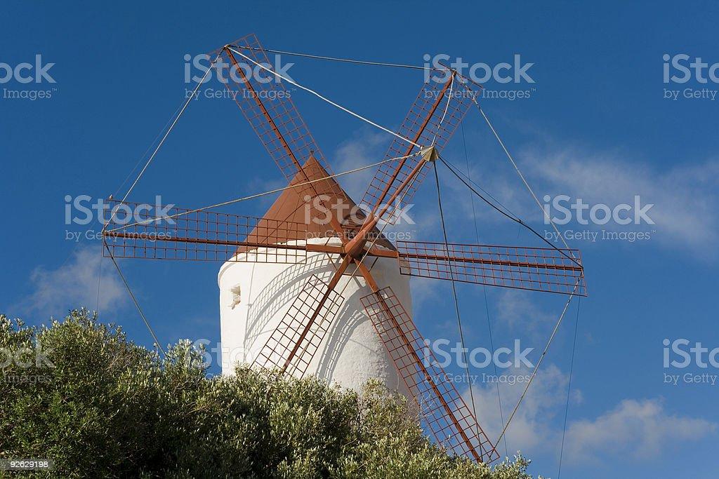 Mediterranean windmill royalty-free stock photo