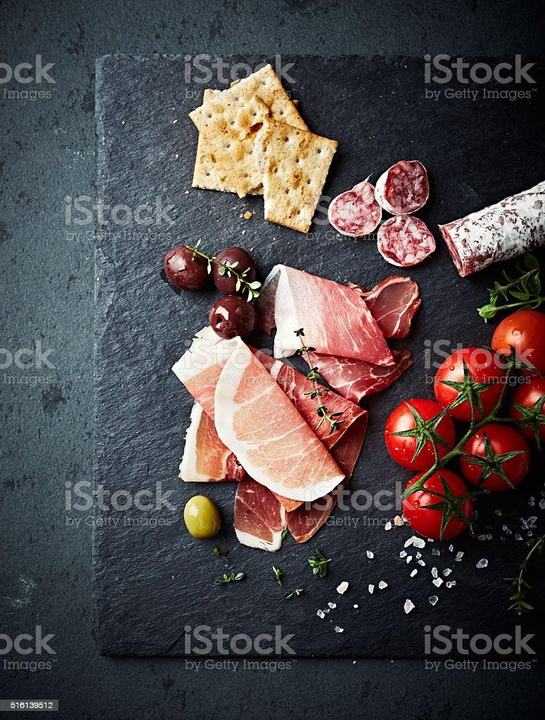 Mediterranean-Style Antipasto stock photo