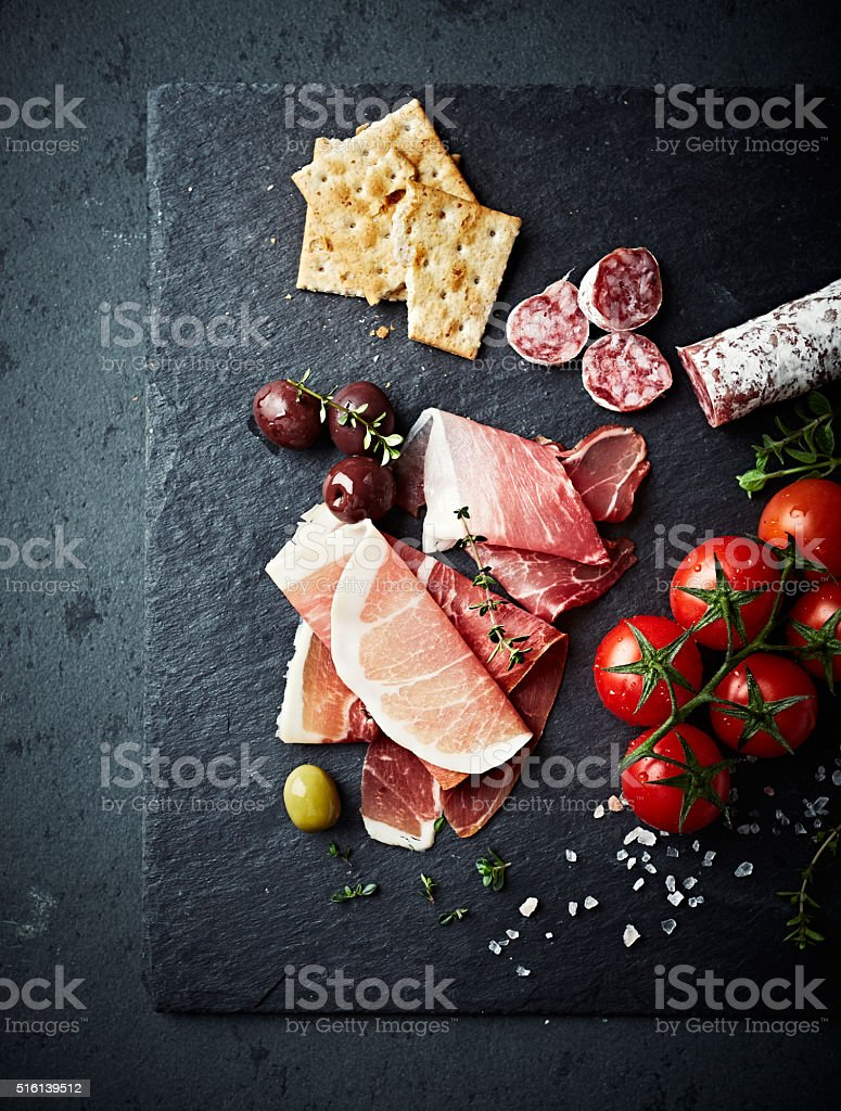 Mediterranean-Style Antipasto stock photo