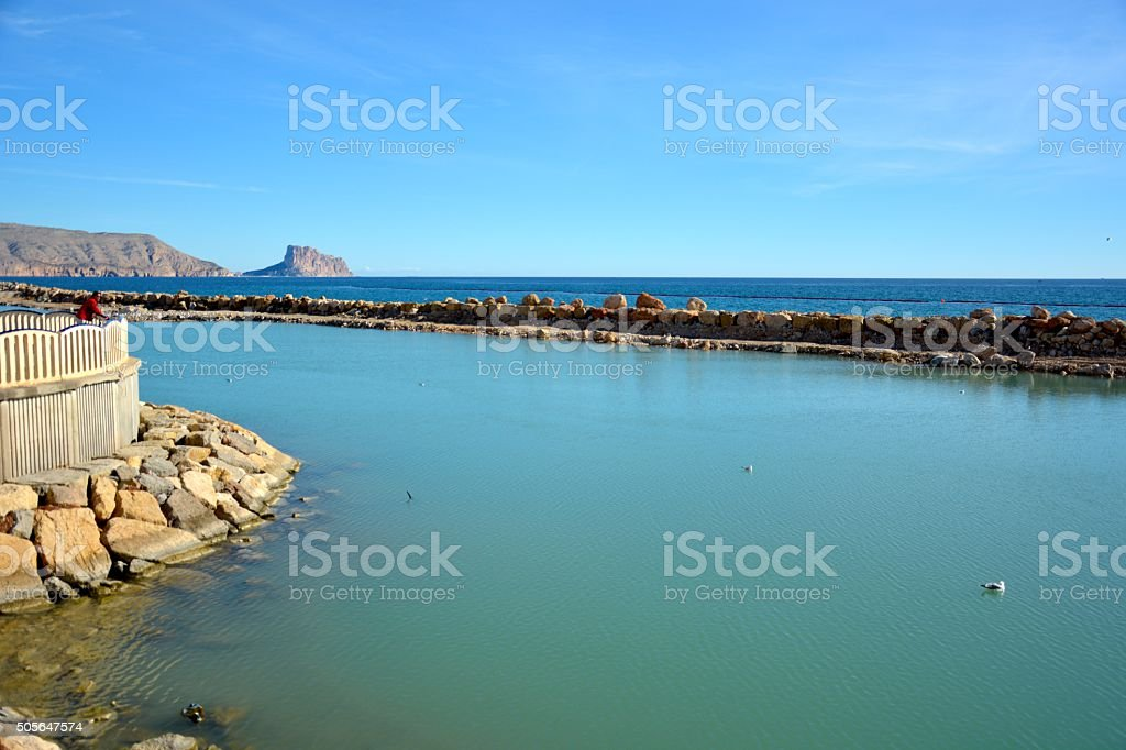 Mediterrenean seaview Altea stock photo