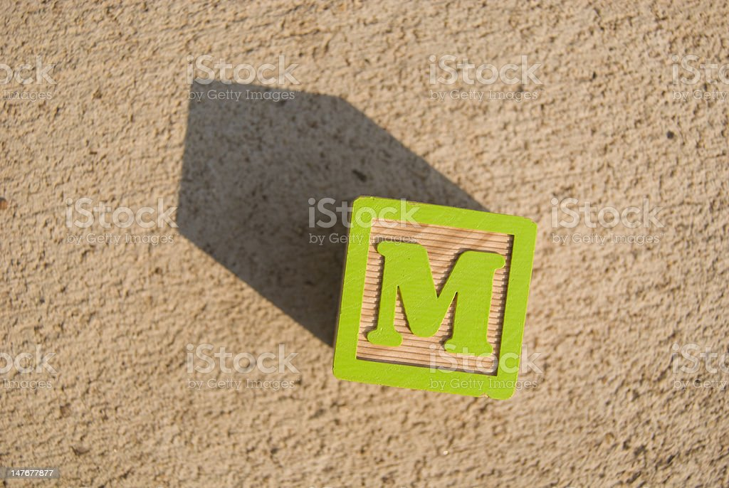 Medium (M) - block royalty-free stock photo