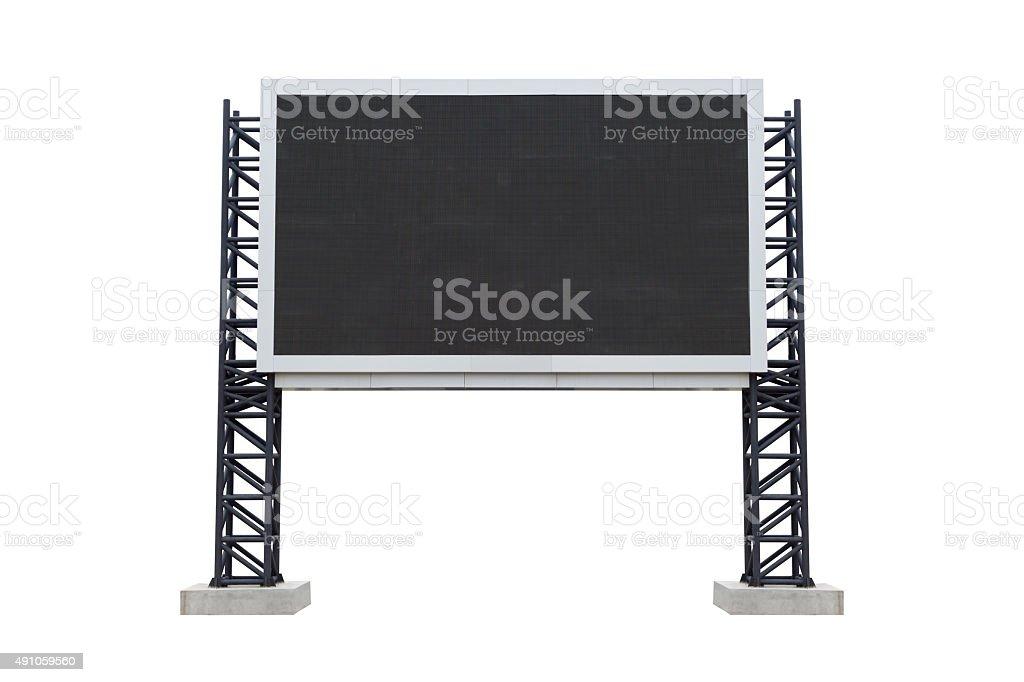 Medium center scoreboard stadium isolated on white background. u stock photo
