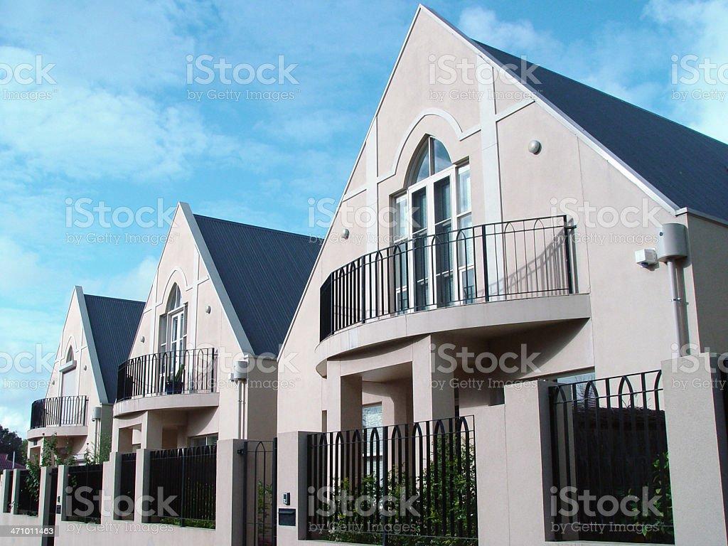 Medium density housing stock photo