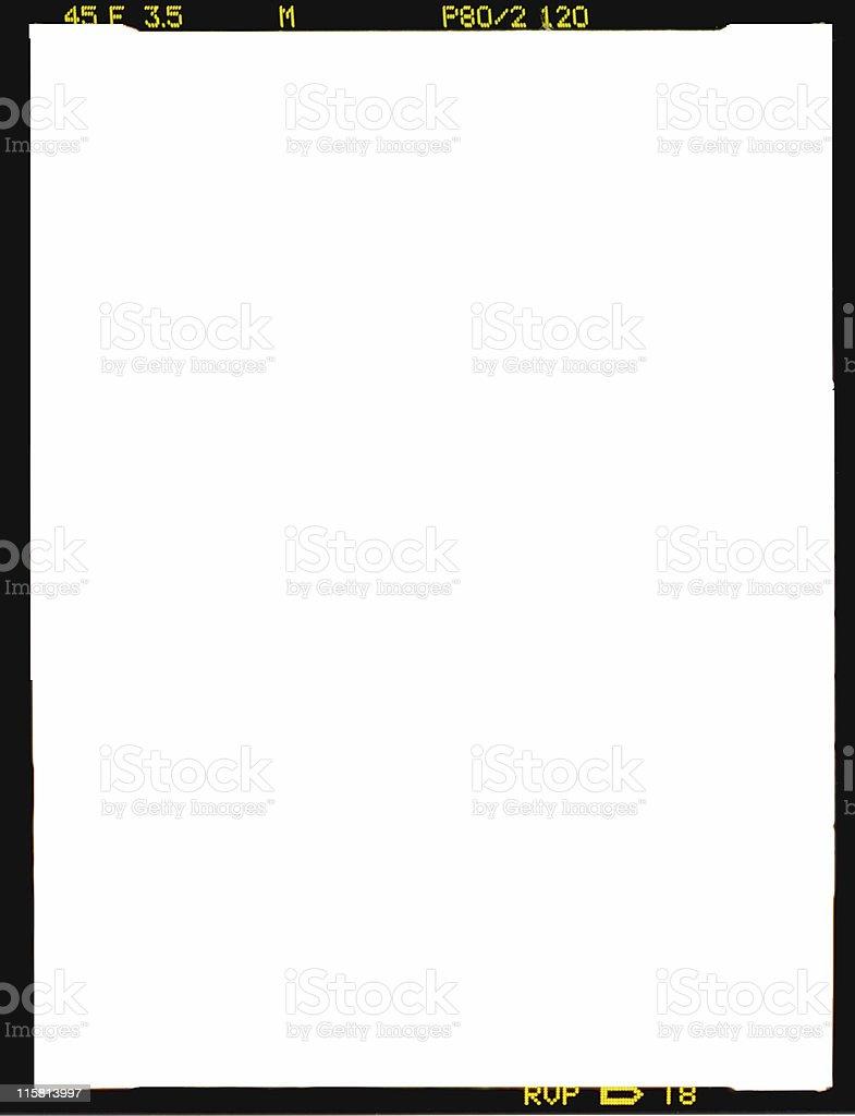 Medium format 6x4.5 film border stock photo