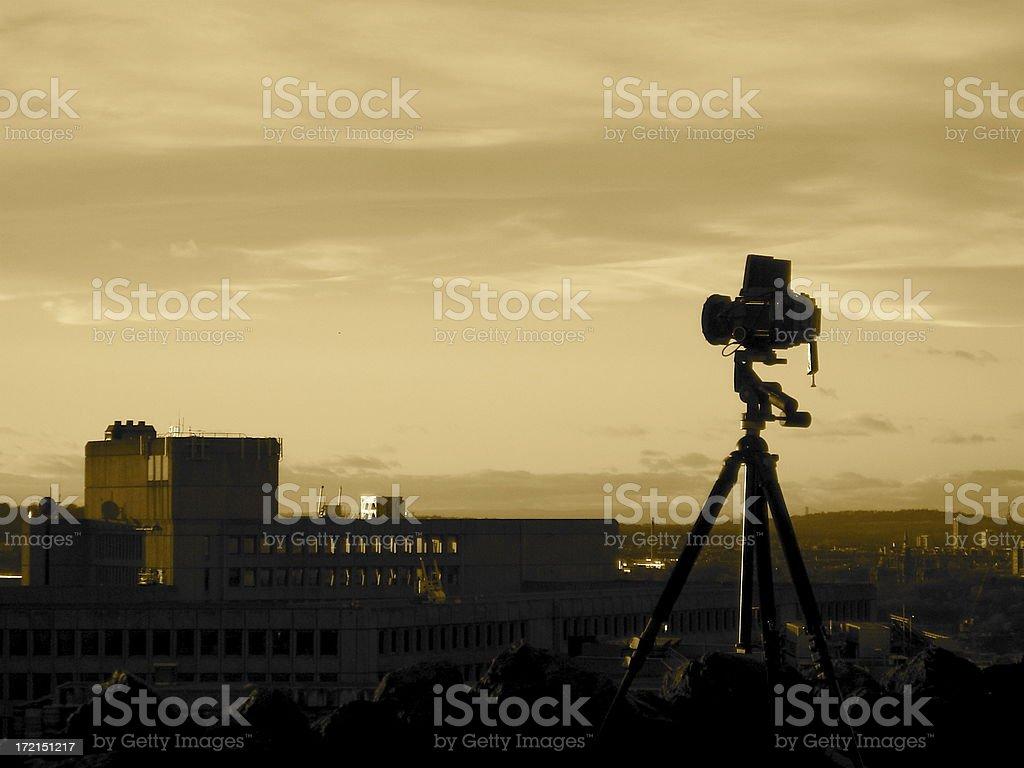 Medium Format Camera at Viewpoint royalty-free stock photo