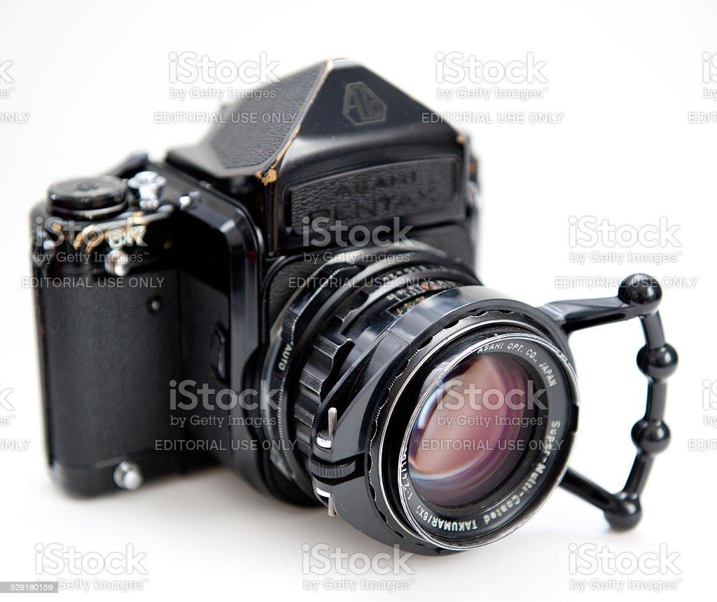 Medium format Camera: Pentax 67 stock photo