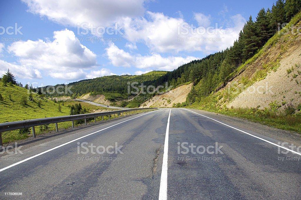 Medium of the road. royalty-free stock photo