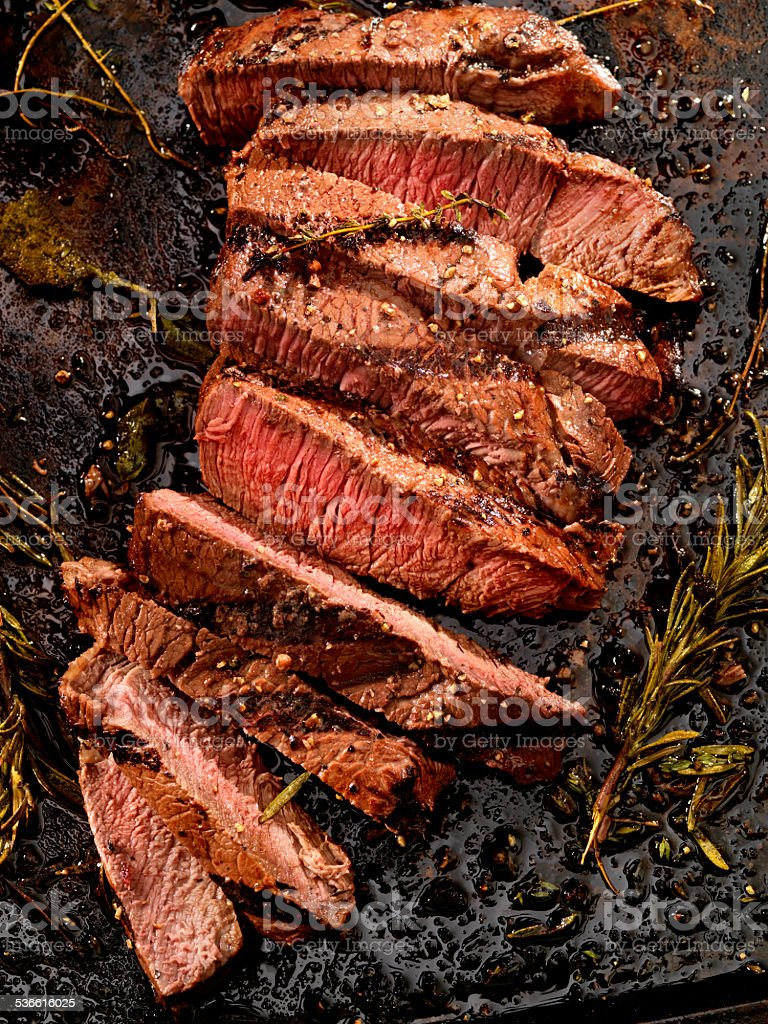 Medium Rare Steak stock photo