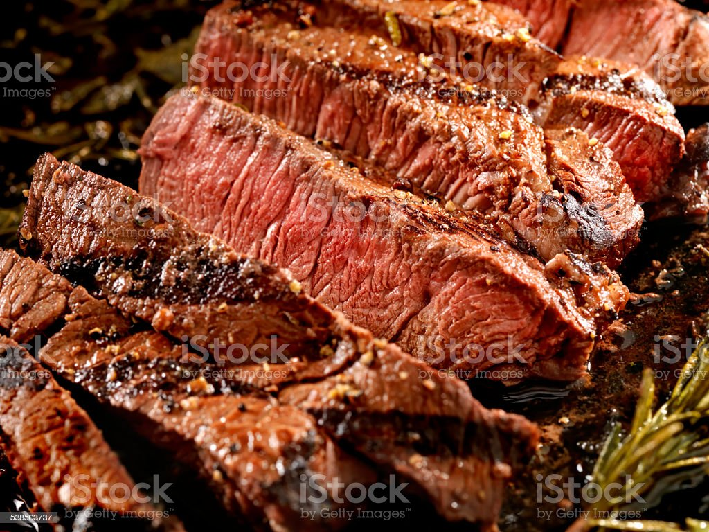 Medium Rare Steak stock photo