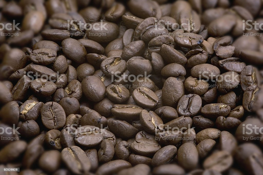 Medium Roast Coffee Beans royalty-free stock photo