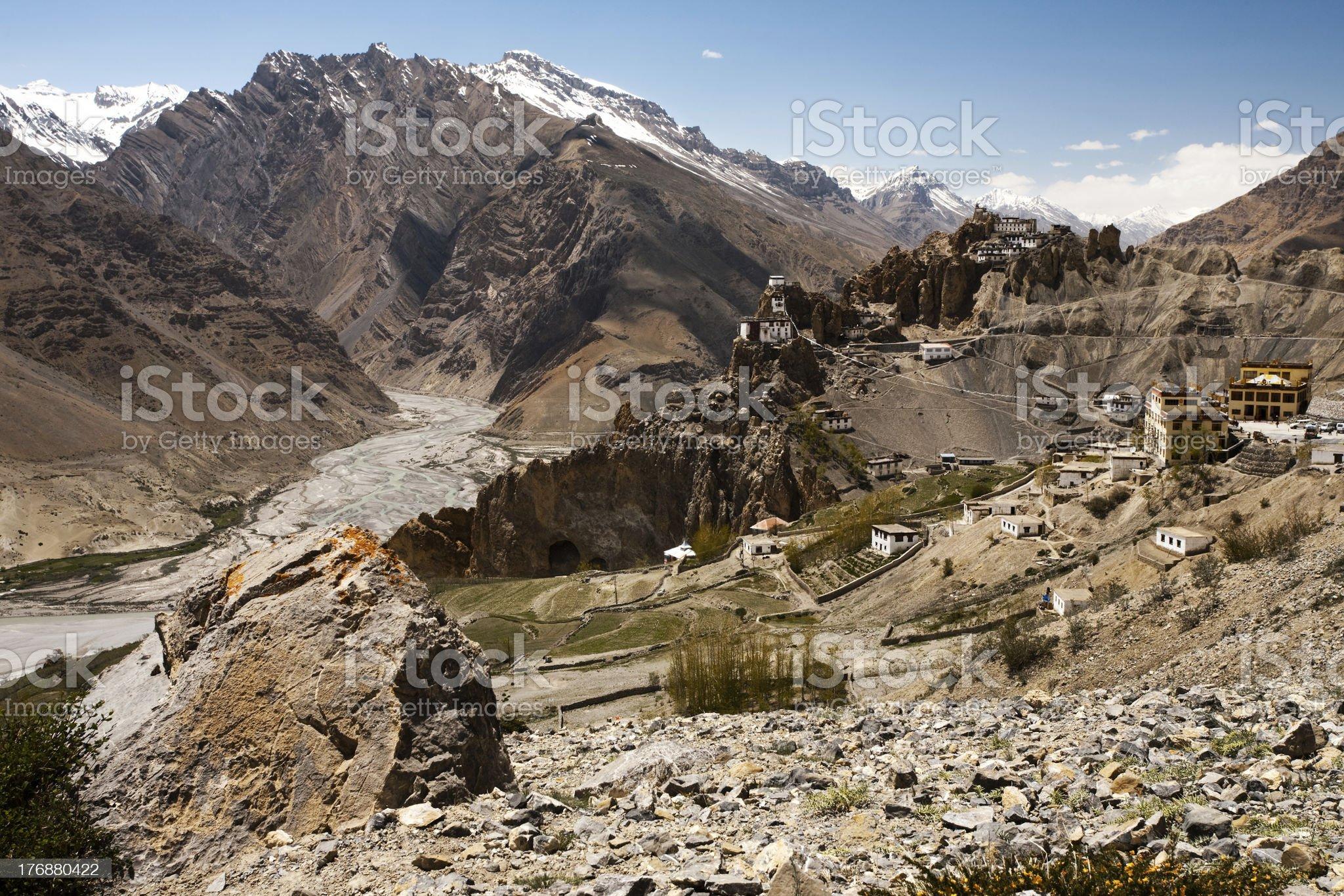 Medium Valley And Cliff Monastery royalty-free stock photo