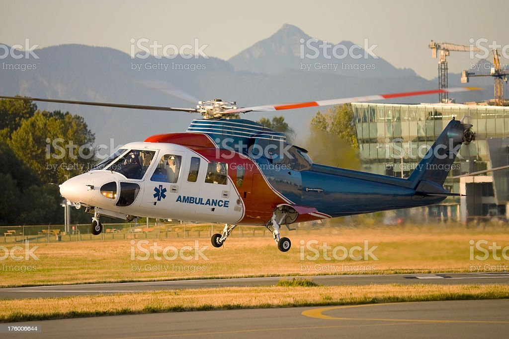 Medivac Helicopter in the Hover. royalty-free stock photo