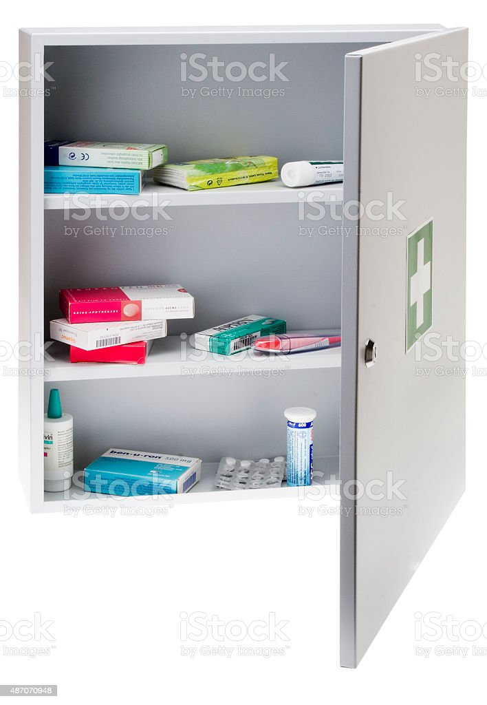 Medizinschrank - Hausapotheke stock photo