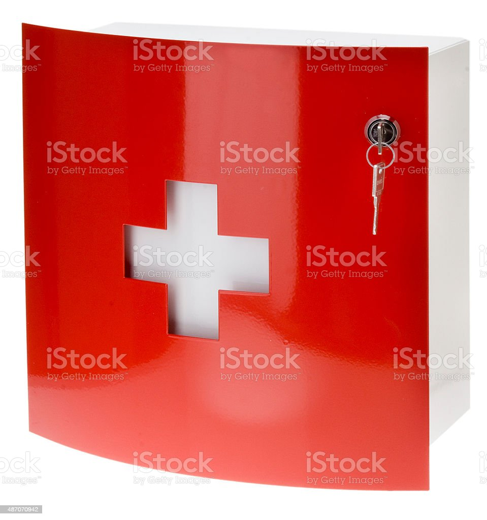 Medizinschrank stock photo