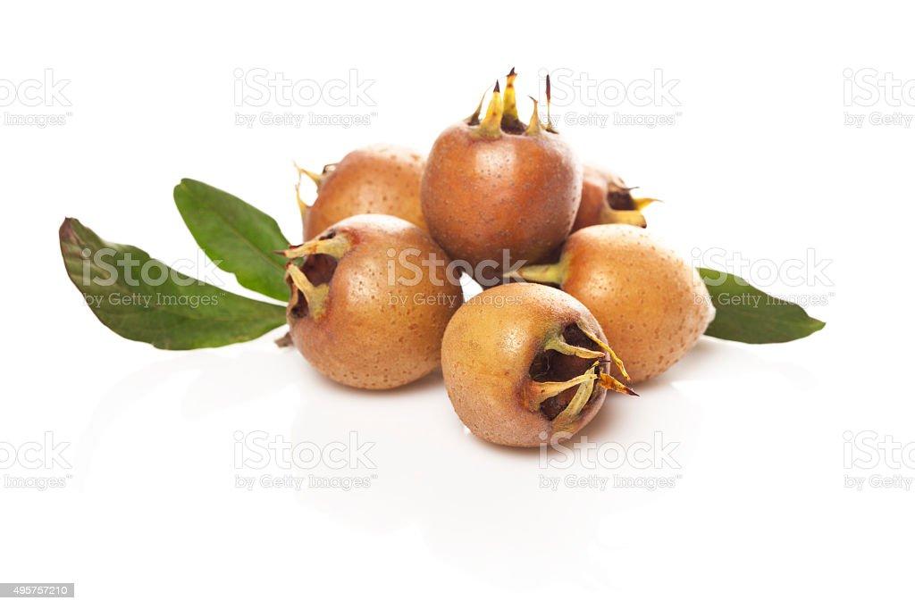 medlar fruit stock photo