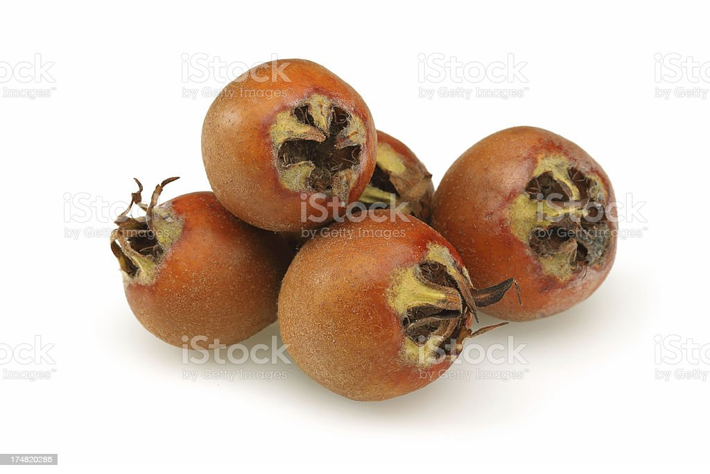 Medlar Fruits royalty-free stock photo
