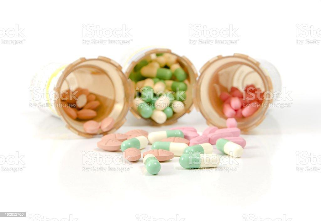 Meds on White stock photo