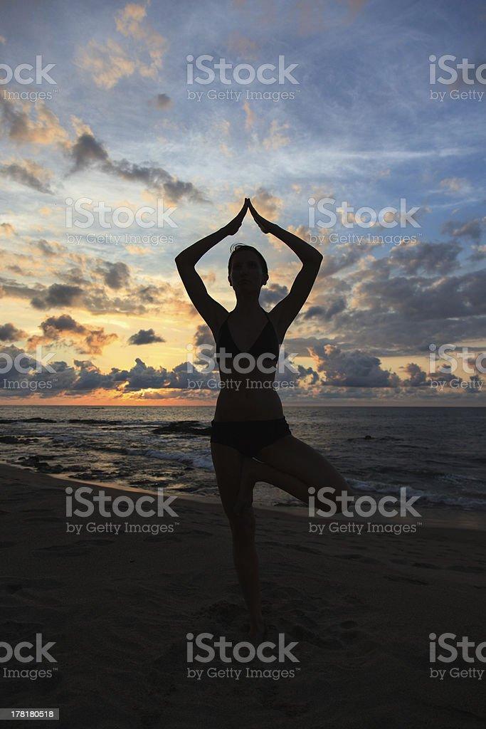 Medtitation, Yoga royalty-free stock photo