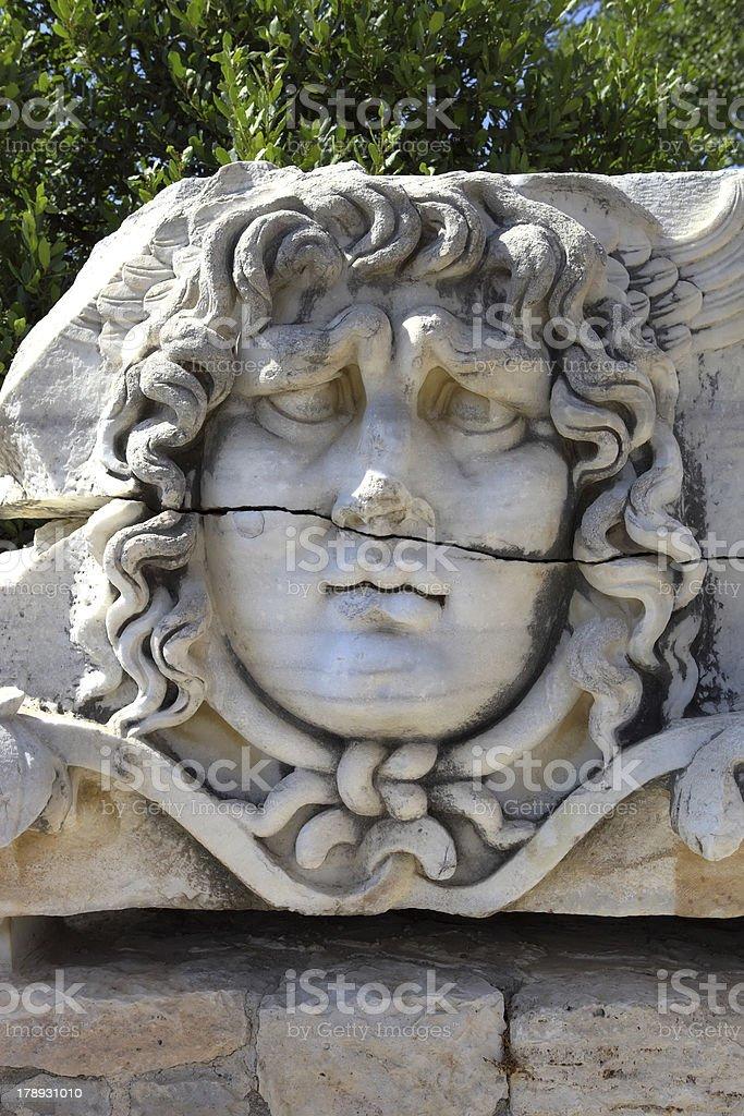 Medusa at Temple of Apollo Didyma royalty-free stock photo